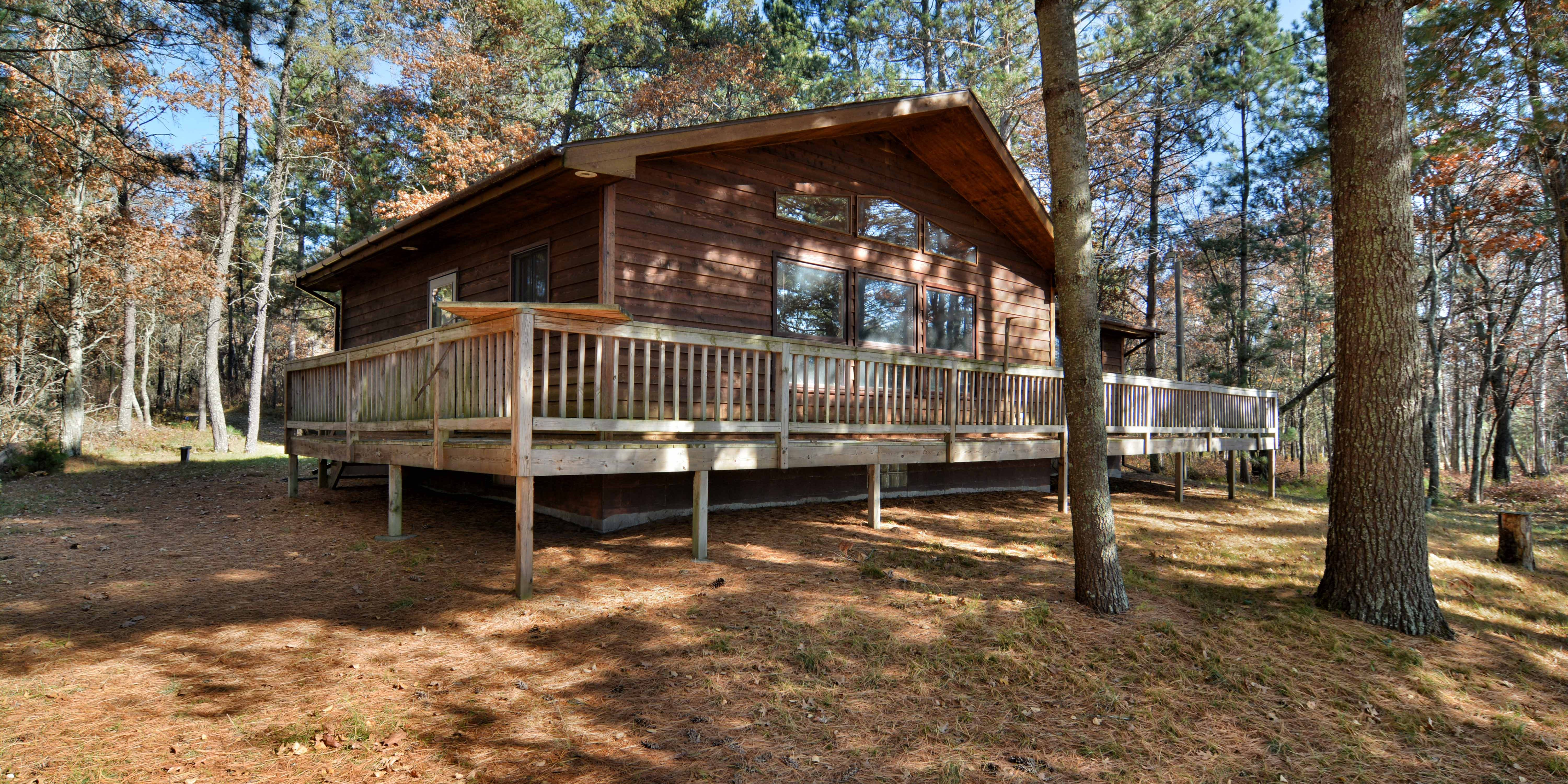 Nancy Lake Minong Wisconsin Cabin for Sale on 20 Acres